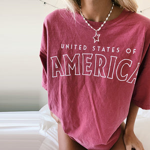 Red U.S.A. Tee