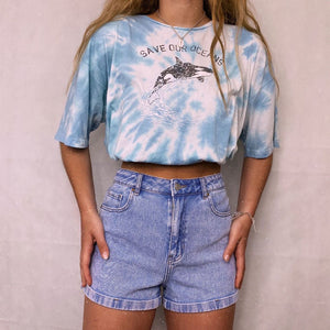 Casual basic wild tie-dye graphic pullover T-shirt