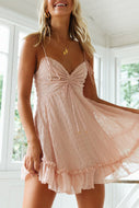 Womens strapless dress with pleats on the chest wq36