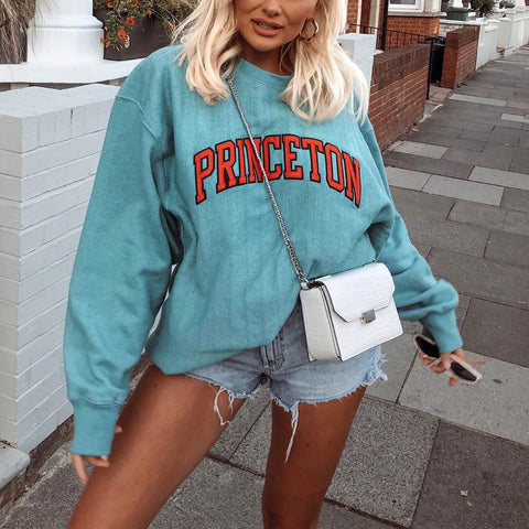 Fashion print loose sweatshirt