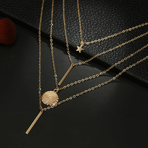 Stylish Brief Star Multi-layer Necklace