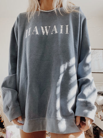 Hawaii Vintage Blue Crewneck