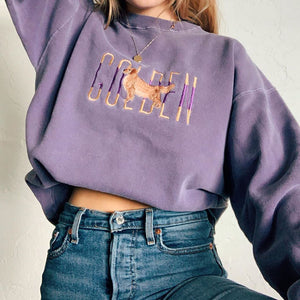 Women's fashion simple round neck long sleeve sweatshirt