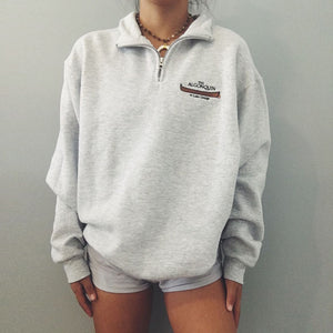Casual Loose Zip Lapel Sweatshirt