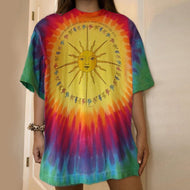 Casual Colorful Sun Printed T-shirts