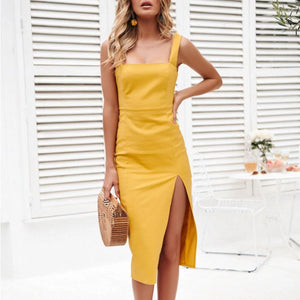 Fashion sling split hip bag dress