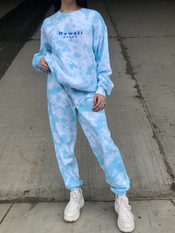 Hawaii Tie Dye Sweat Suit Set