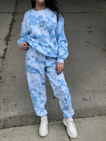 Topaz Tie-dye Sweat Suit Set