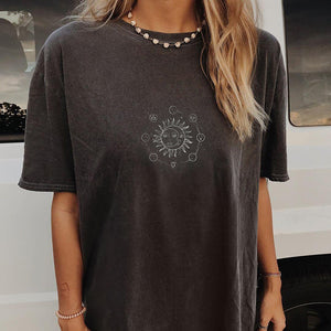 Casual fashion short sleeve printed top T-shirt