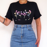 Summer Simple Printed Flowers T-shirts