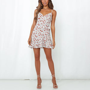 Printed irregular mini dress