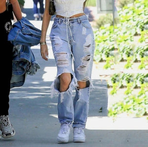 Vintage Casual Ripped Jeans
