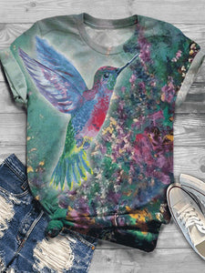 Fashion casual short sleeve top printed T-shirt