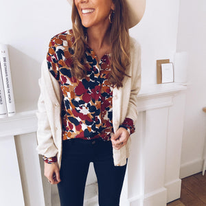 Womens fashion casual printed shirt RY87