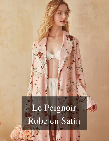 Peignoir Robe en Satin