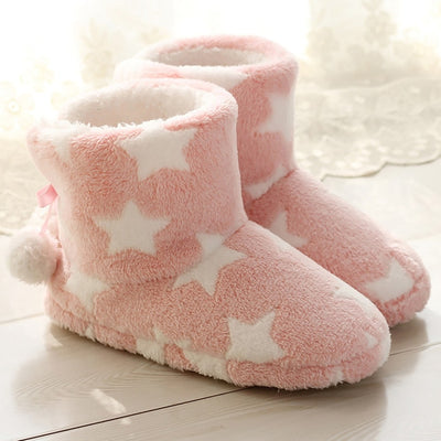 Chausson Chaussette Etoiles Rose