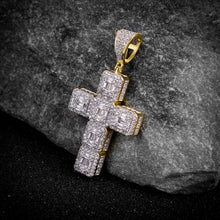 Load image into Gallery viewer, Cross Silver Pendant with CZ Stone-929982