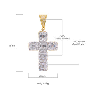 Cross Silver Pendant with CZ Stone-929982
