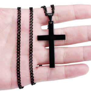 Fashion Unisex's Men Black Cross