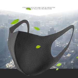 Face Mask Black Breathable