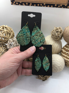 Chameleon Metallic Leather Earrings