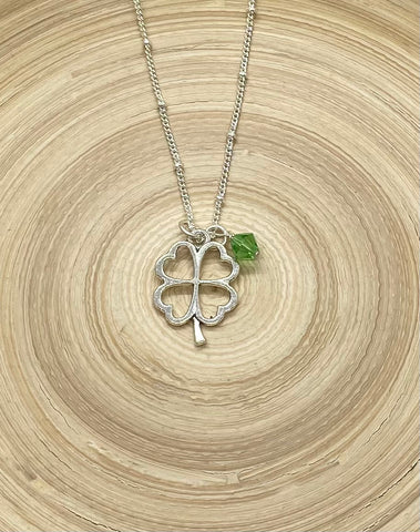 Silver 4 Leaf Clover Necklace