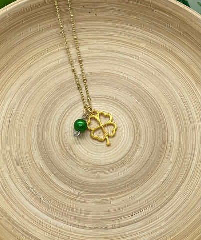 Gold 4 Leaf Clover Necklace