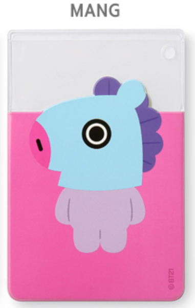 BT21 CLEAR CARD POCKET - MANG