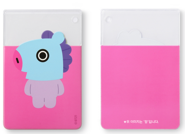 BT21 CLEAR CARD POCKET- SHOOKY