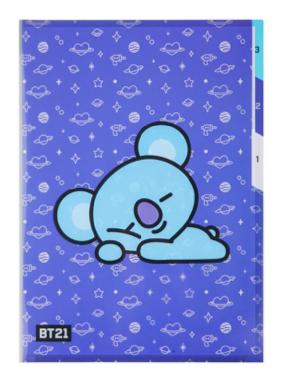 BT21 3 POCKET FILE HOLDER-KOYA