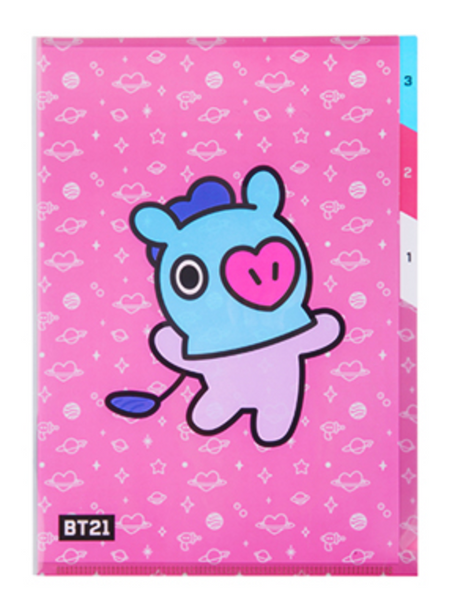 BT21 3 POCKET FILE HOLDER-MANG
