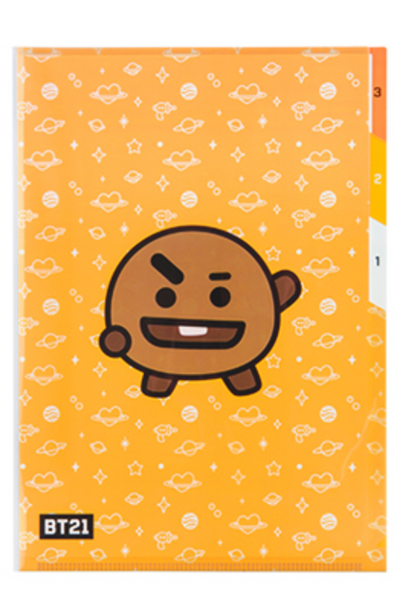 BT21 3 POCKET FILE HOLDER-SHOOKY