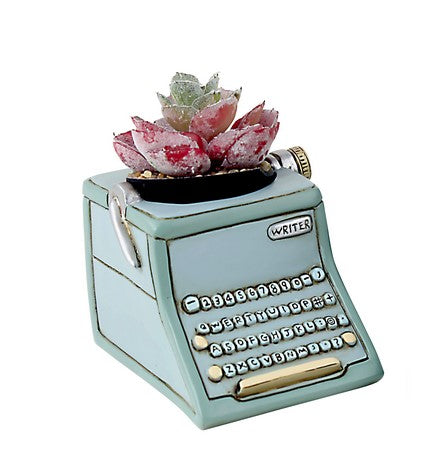 DB 2062 Baby Blue Writer Planter