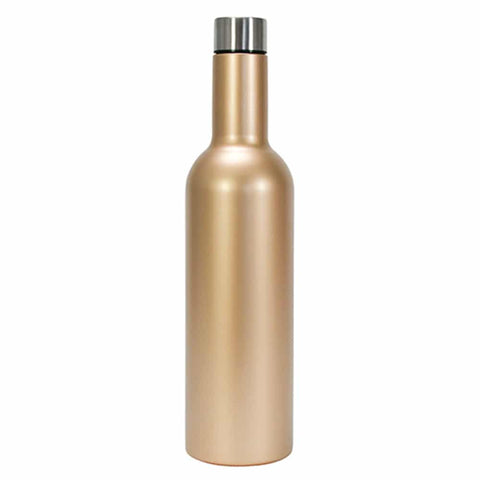 WINE BOTTLE STAINLESS - GOLD