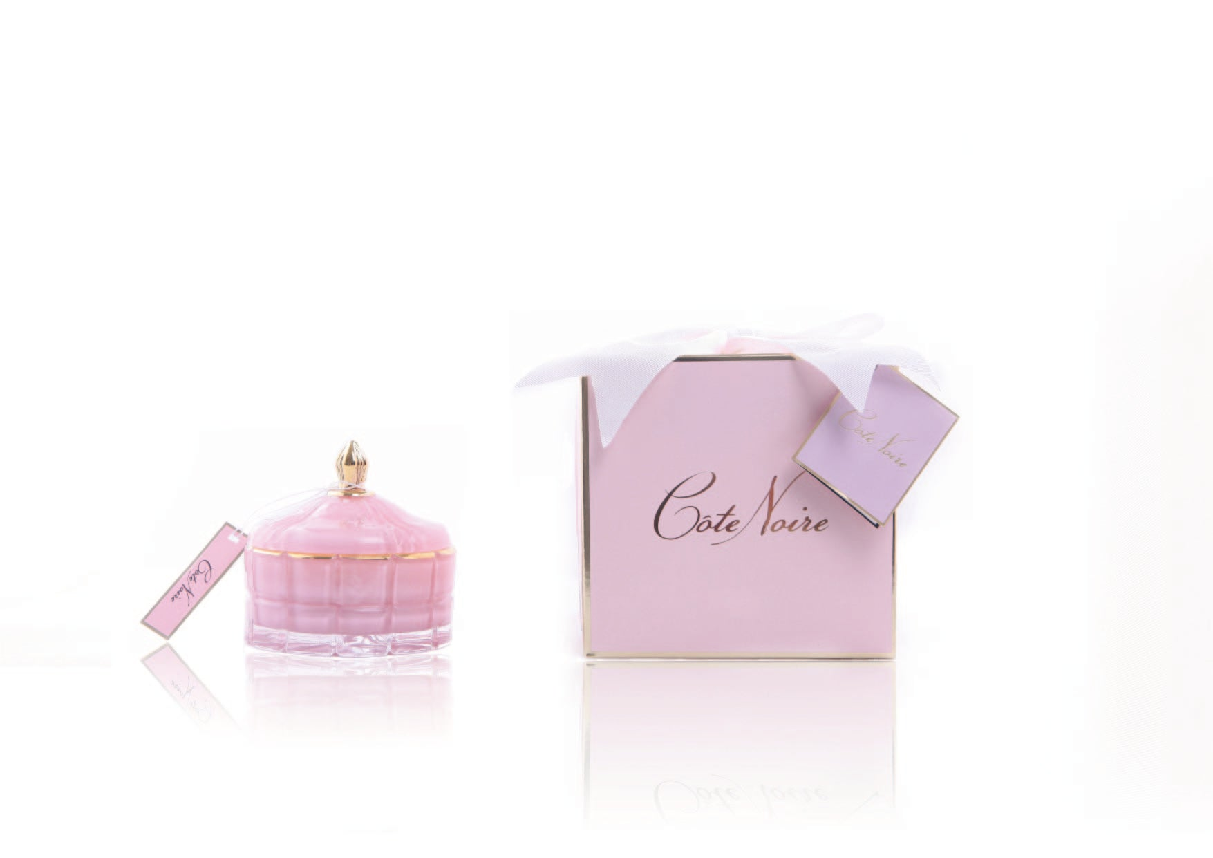GML45002 Pink Art Deco Candle 4s