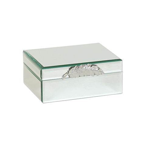 LITOFS TORI MIRROR W/SILVER FEATHER BOX SML