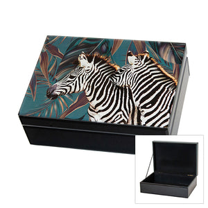 LTJTLZ JONESTOWN GLASS JEWEL BOX ZEBRA LGE