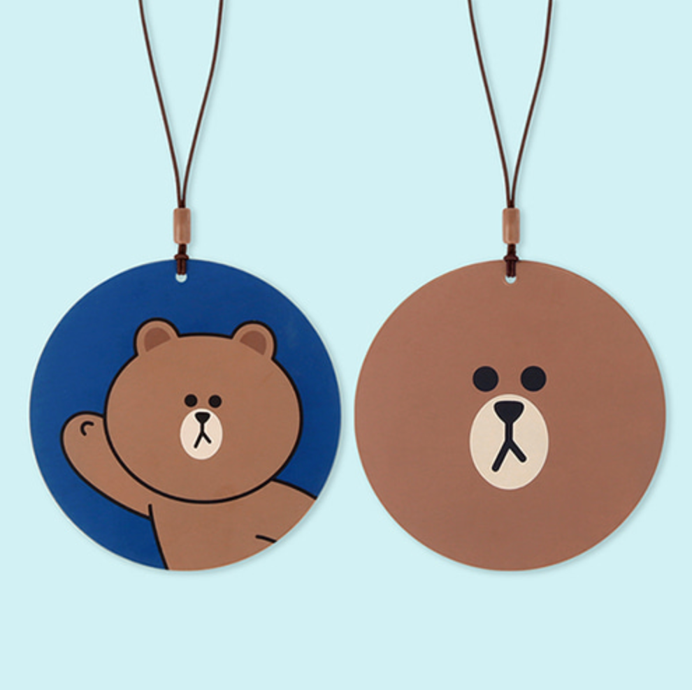 LINE FRIENDS TRAVEL TAG- BROWN