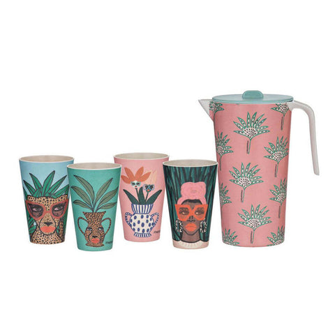 THSWBB003 BB Jungle Rumble Bamboo 5pce Drink Set