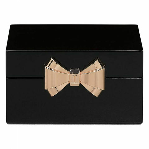 LACQUER SMALL BLACK JEWEL BOX