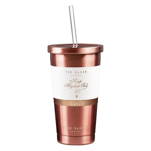 TUMBLER & STRAW - ROSE GOLD