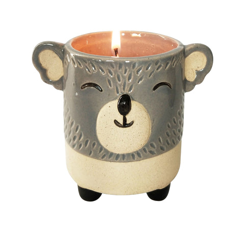UH139420 Koala Soy Candle Grey & Sand 9cm