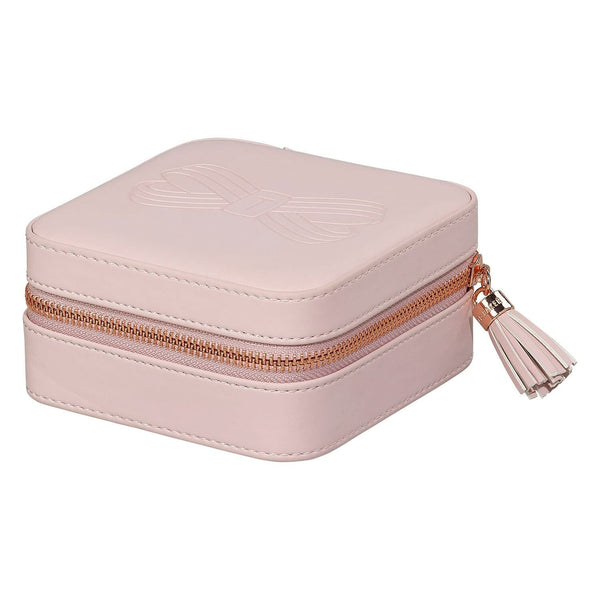 ZIPPED JEWELLERY CASE PINK