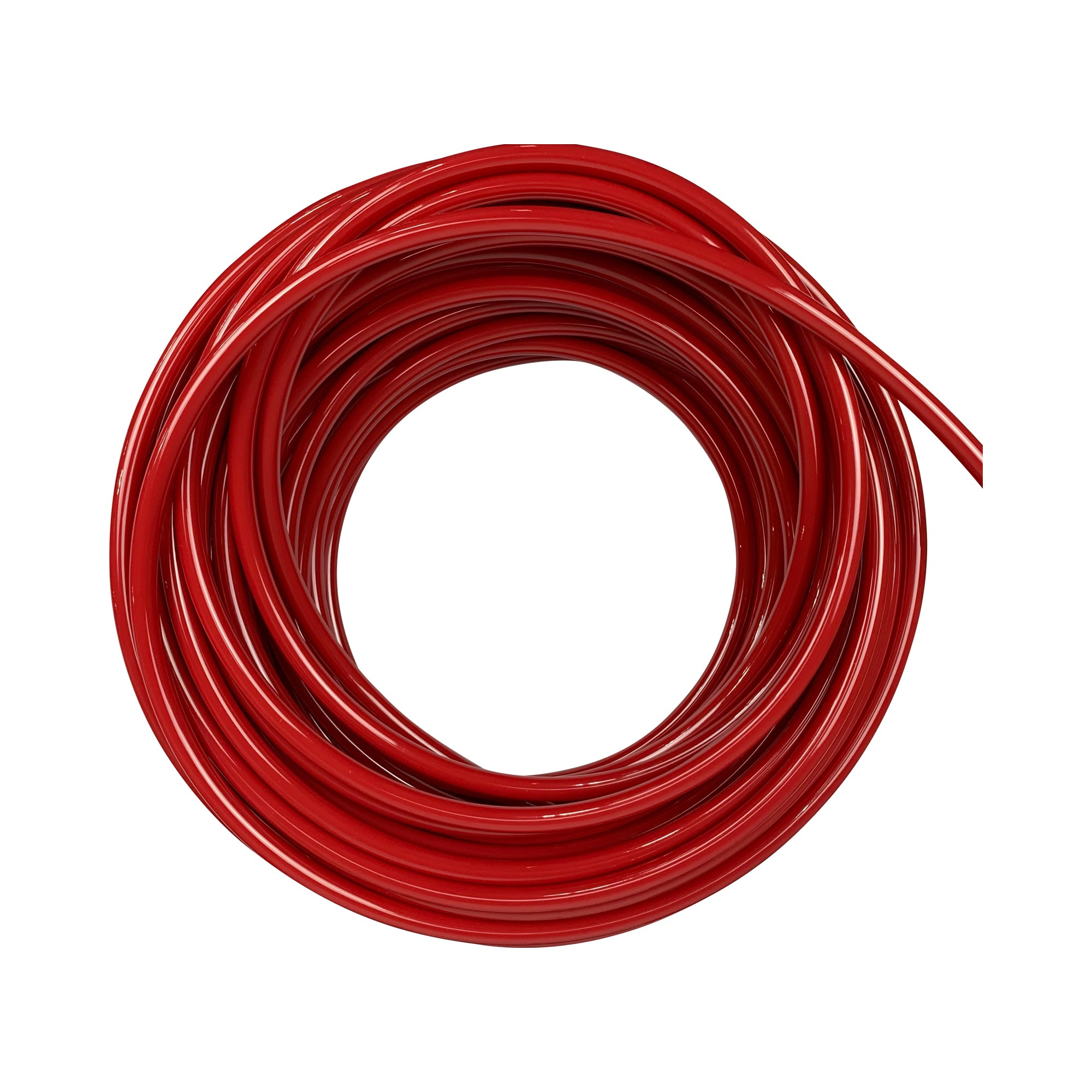 Red plastic tubing compatible for air