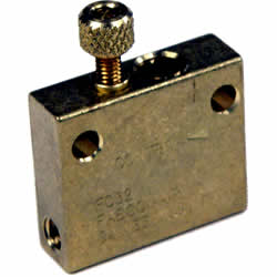 Square metal hosuing with adjustable screw on the top head
