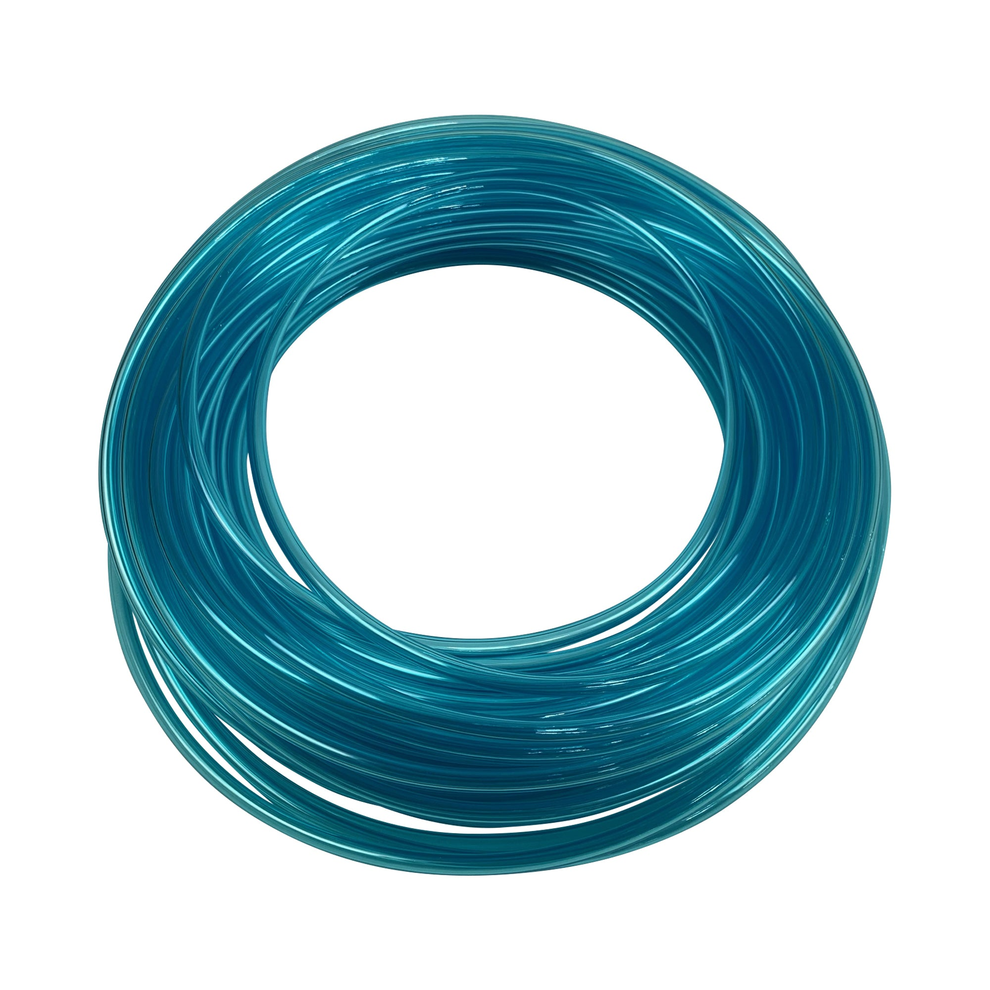 Blue plastic tubing compatible for air