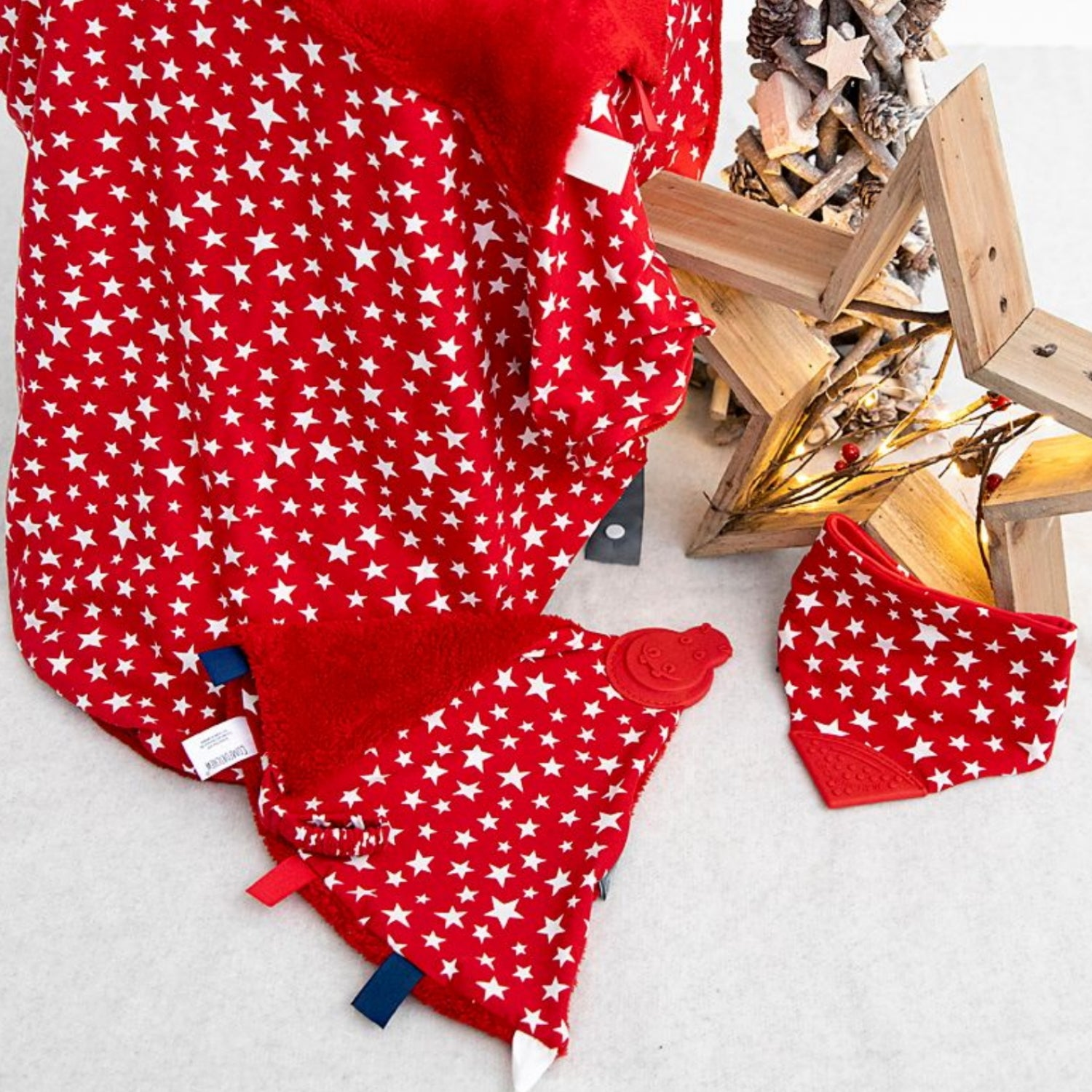 Christmas Red Stars Gift Set