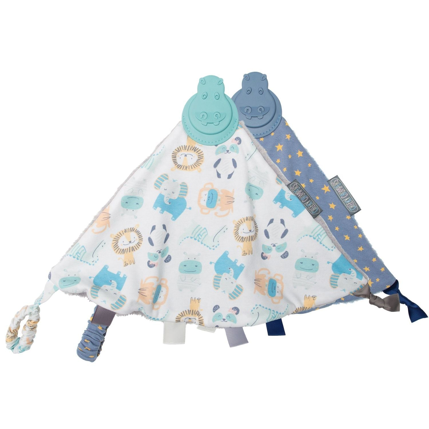 Cheeky Animals & Stars Comfortchew - Baby Comforter With Teether 2 Pack - Cheeky Chompers