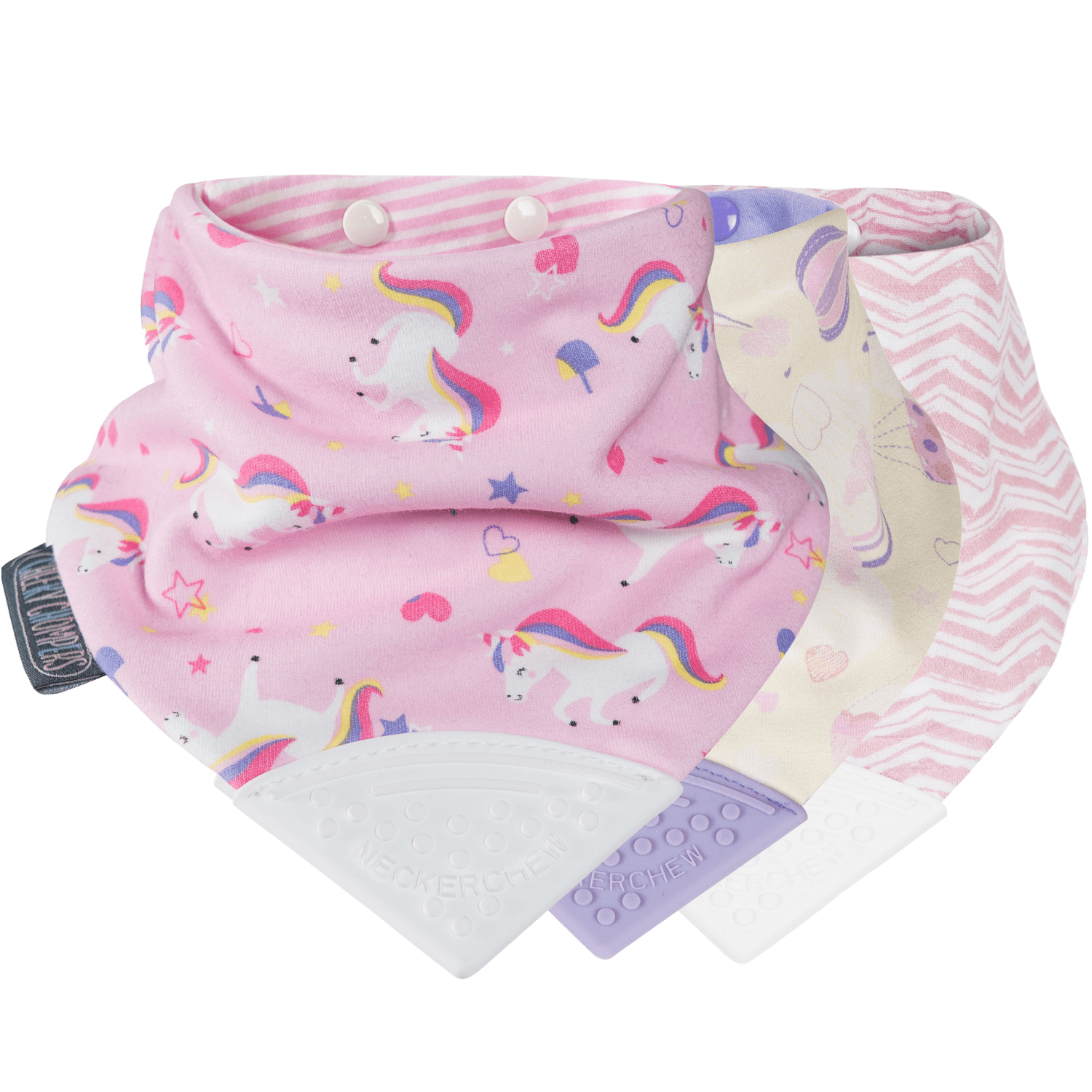 Unicorn & Rainbow Neckerchew 3 Pack
