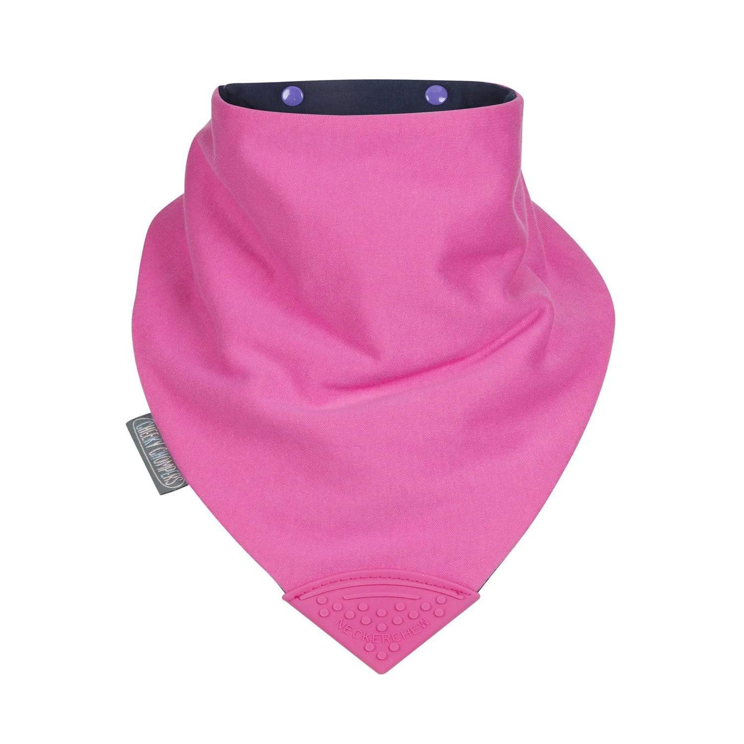 Cerise Medium Neckerchew - Cheeky Chompers